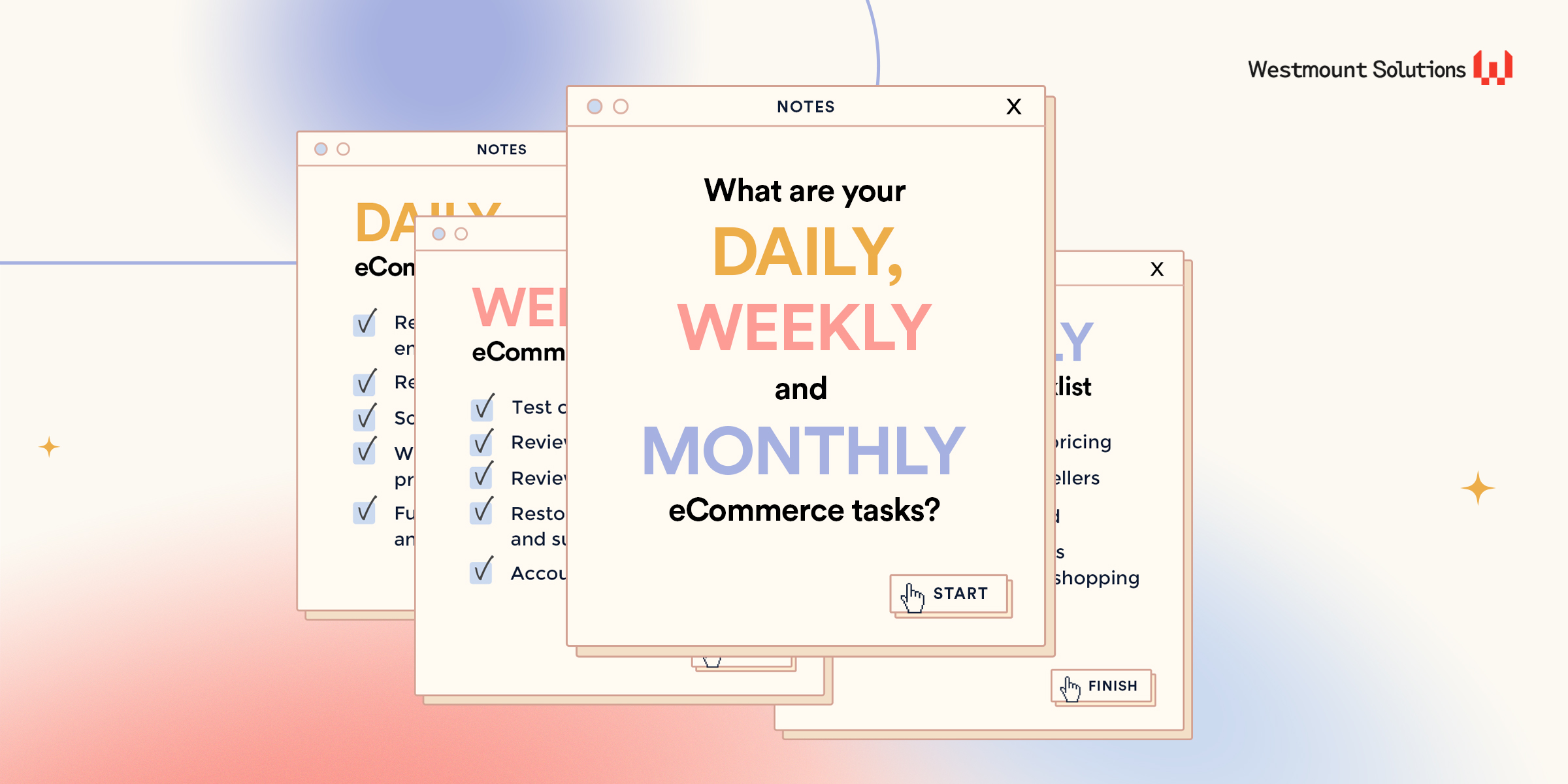 Your daily, weekly and monthly eCommerce checklists